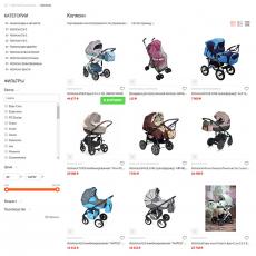Интернет-магазин детских товаров, облачная версия