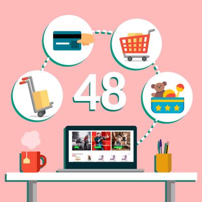 Интернет-магазин детских товаров, облачная версия «48»